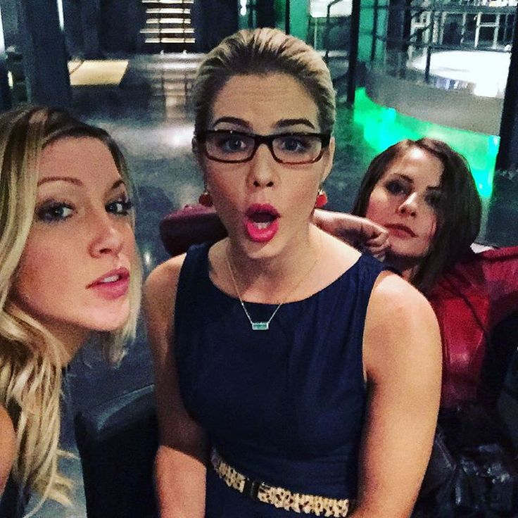 "Katie Cassidy on Instagram: ""Bad ass bitches @emilybett @willaaaahh #arrow"""