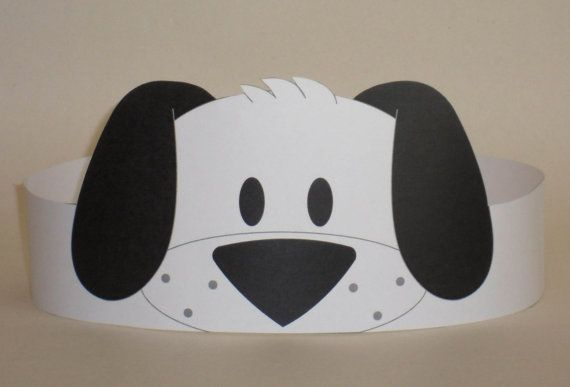 Puppy (Black & White) Crown - Printable