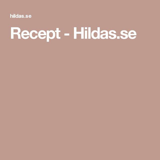 Recept - Hildas.se