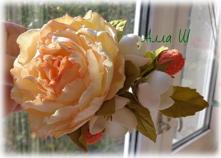 """МК """"Как сделать украшение с цветами из фоамирана"""""""