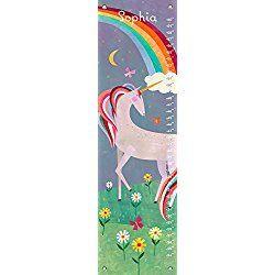 """Fairytale Unicorn by Melanie Mikecz - Personalized Growth Charts, 12""""x42"""""""