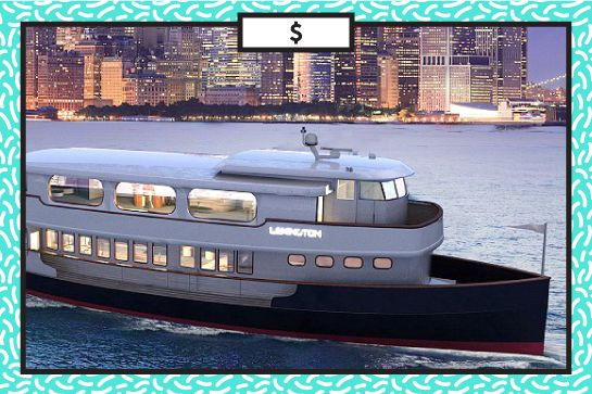 How NOT To Blow Your $ This Summer #refinery29  http://www.refinery29.com/money-saving-tips#slide18  I'm On A Boat If you're craving a booze cruise of sorts, consider renting a fancy boat for 24 hours. You can bring friends along and avail yourselves of a full crew for something in the $9,000 range. Hornblower, Charter Private Yacht, prices vary, more information available at Prestige Yacht Charters.