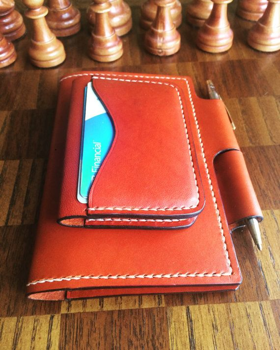 Four pocket cardholder in chestnut Wickett and by ChinookTradingCo