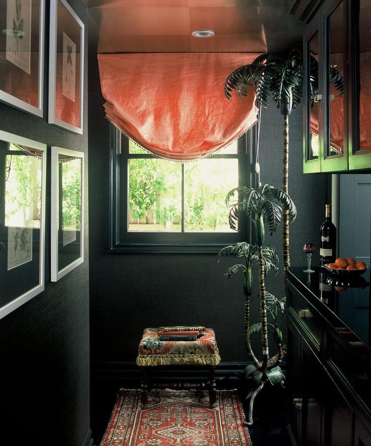 192 best designer ruthie sommers images on pinterest for Black wall room