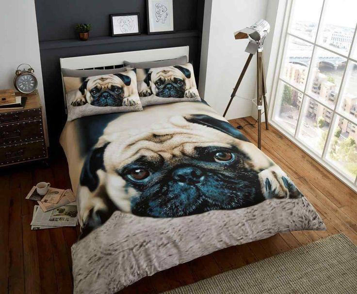 Sweet Pug Duvet Quilt Bedding Set | Black-Brown – Linens Range
