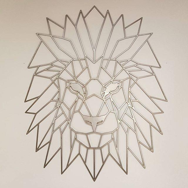 Geometric Lion Wall Art Wallart Metalart Lion HomeDecor Geometric