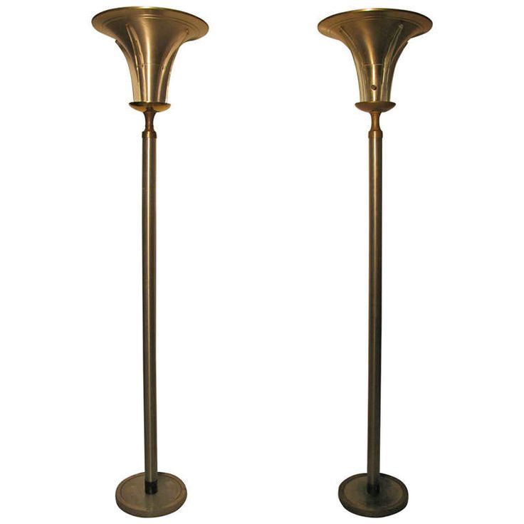 Pair of art deco torchiere floor lamps torchiere floor lampmodern