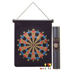 """Picture of Magnetic Dart Board. A wide variety of fun games of skill can be played using this safe, magnetic dart board set. Includes 6 magnetic darts. Board constructed of rubber, steel and velvet. 17"""" x 1 1/2"""" x 27 1/4"""" high. Package - 1 EA"""