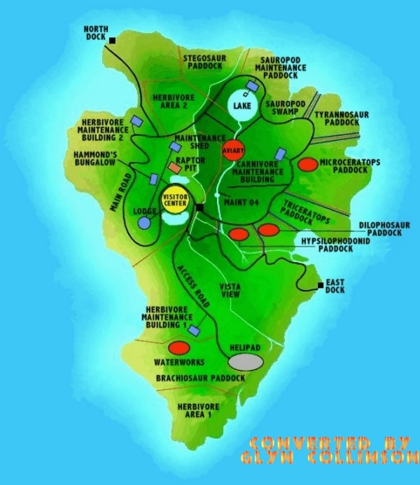 Simple Site Map: 14 Best Images About Isla Nublar Reconstructions (Jurassic
