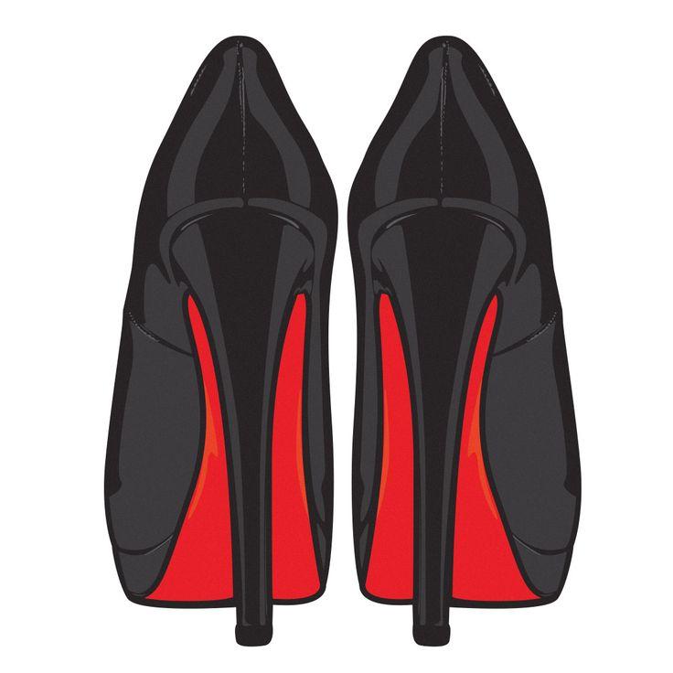 Outline Christian Louboutin High Heel Shoe