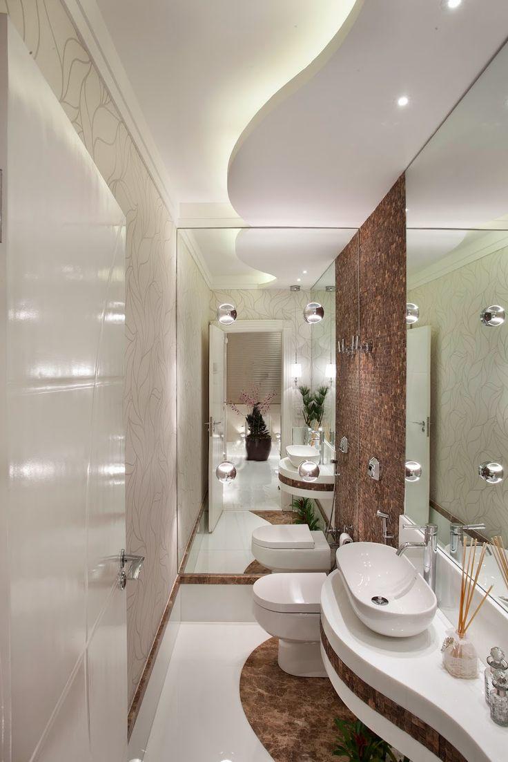 30 Lavabos pequenos e modernos - veja dicas de como ousar e decorar! - Decor Salteado - Blog de Decoração, Arquitetura e Construção