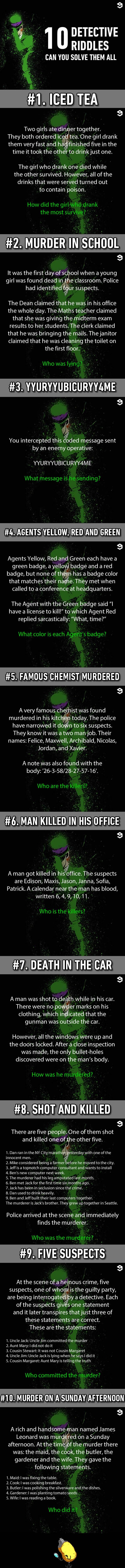 10 Murder Riddles That Would Bring Out The Sherlock In You