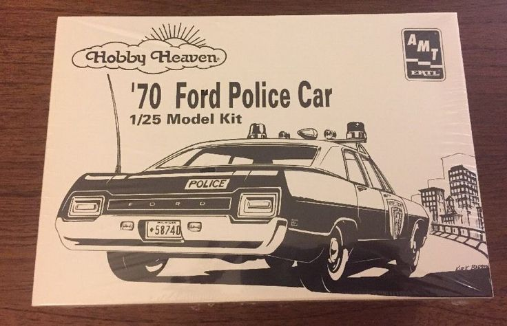 AMT Hobby Heaven '70 Ford Police Car 1/25 Model Kit  | eBay