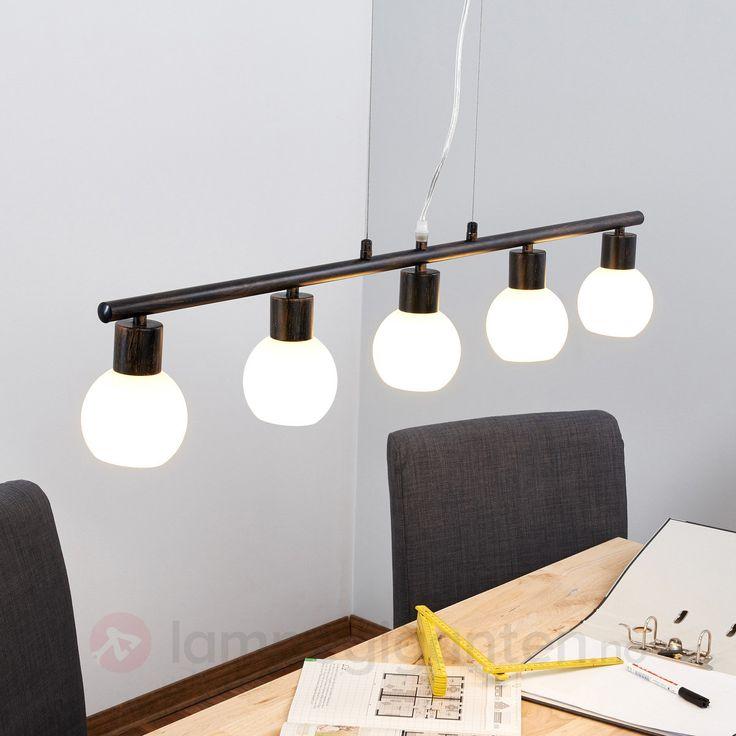 Rustbrun LED-stavpenddellampe Elaina 9620040