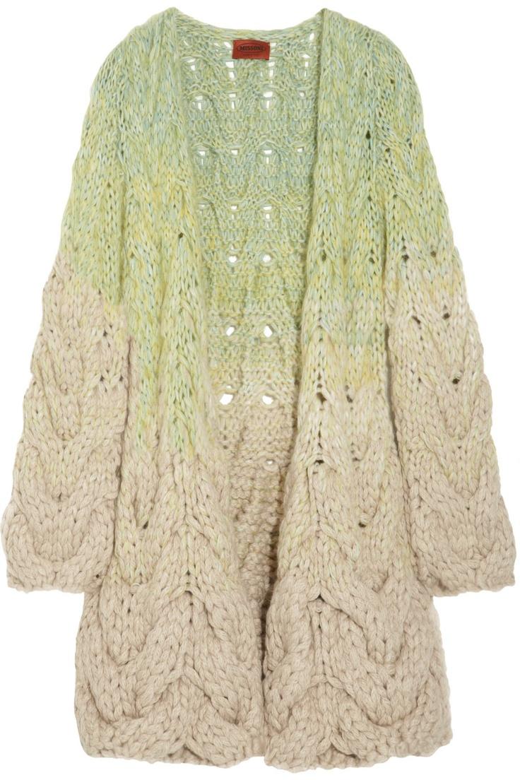 Missoni Bois alpaca-blend cable-knit cardigan