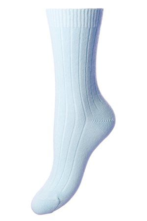 Campbell's of Beauly -Tabitha Cashmere Sock Sky