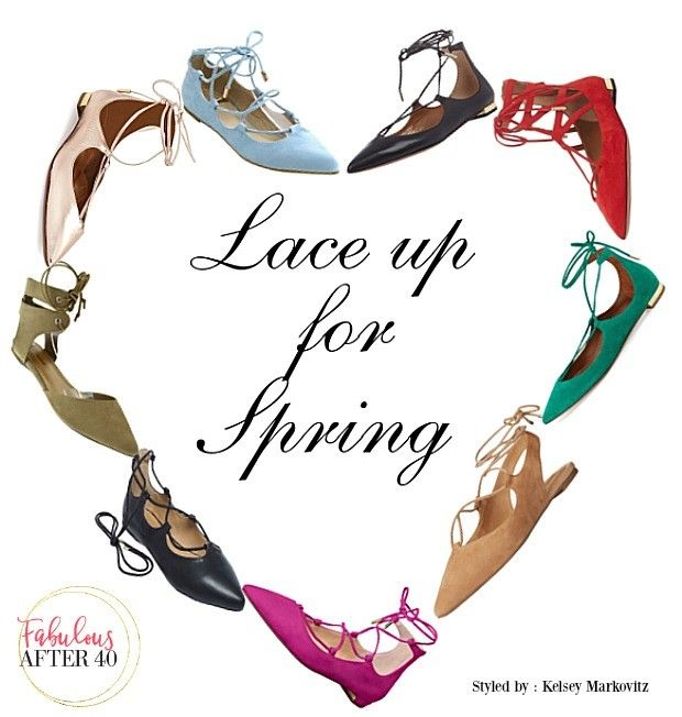 Lace Up Flats - Spring's New IT Shoe | Fabulous After 40