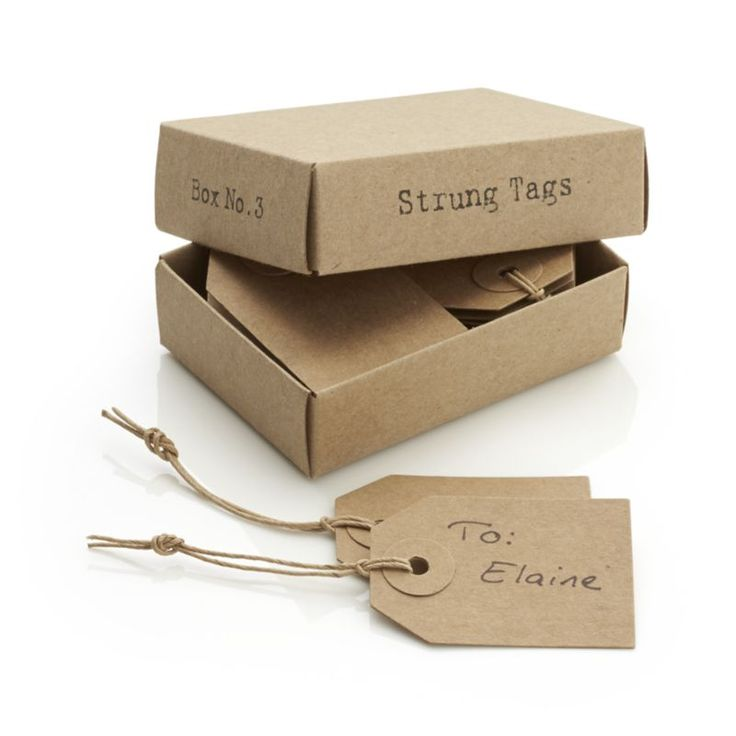 Set of 16 Strung Tags  | Crate and Barrel