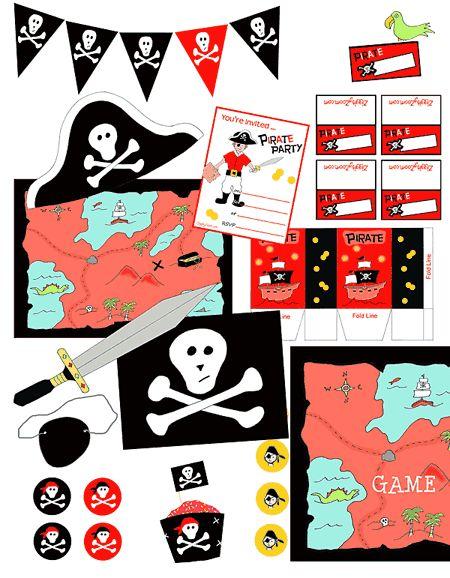 Free pirates printables