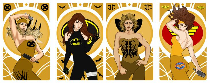 Wolwerine/Bat/Rorschaach/ Wonder Woman - Superheroes Bachelorette Party