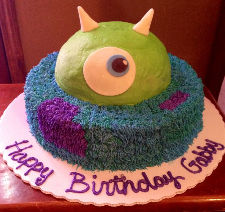 Gabby's 3rd Birthday Monsters Inc Cake