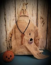 Primitive Halloween Ghost Doll w/ Pumpkin