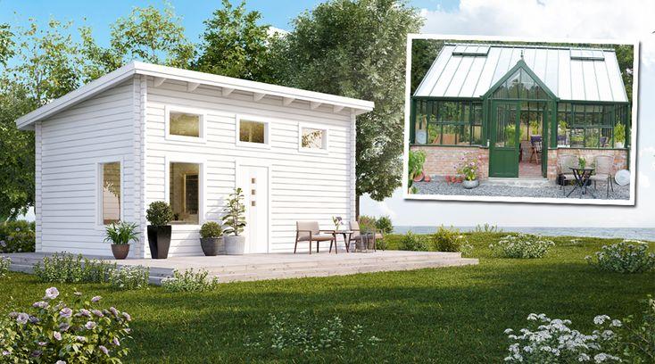 Attefallshus har blivit populära både som fritidshus och permanentboende. Här är 10 olika typer av attefallshus – nu även som både uterum och växthus.