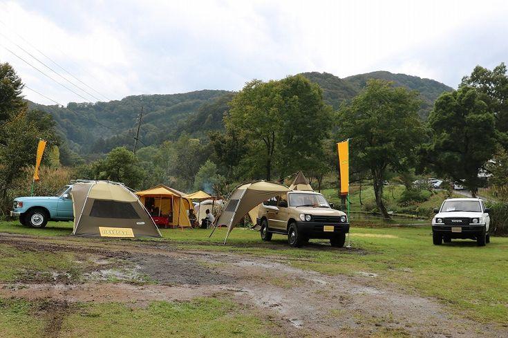 ランクル80・100・95プラド丸目でオートキャンプ:無印良品津南キャンプ場(新潟)