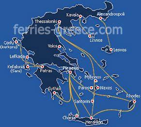 Naxos ferry-boats - bateaux pour l'île de Naxos Cyclades Grèce