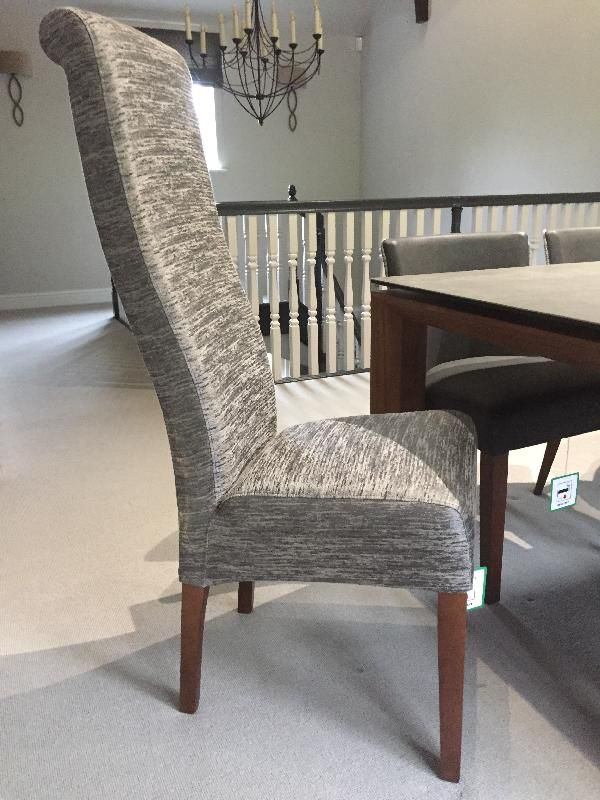 Our stunning Roxy chairs in the fabulous Warwick Mayes fabric in Titanium, http://www.thechairpeople.co.uk/search.php?searchword=roxy
