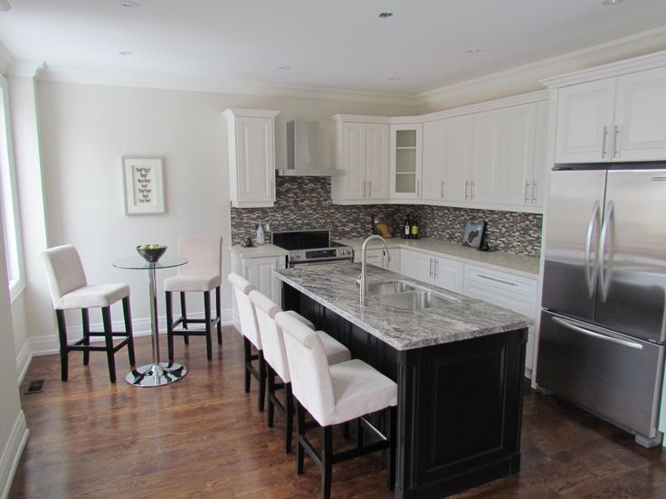 Amazing How Do You Handle A Narrow 5 Foot Wide Kitchen Space. We Selected Stools  For Three People To Sit At The Island And Two For The Bar Height Table Thau2026