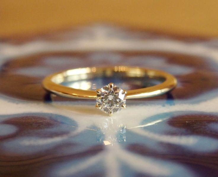 婚約指輪:ゴールドのソリテール(オーダーメイド/手作り)…