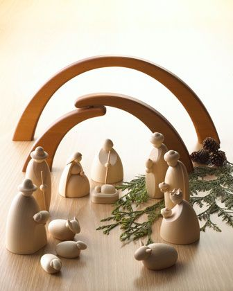 What a beautiful, modern Nativity. I would love to add this to our Christmas decor.