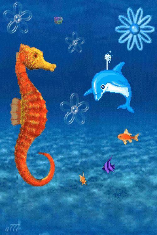 Картинки, картинки морские животные с анимацией