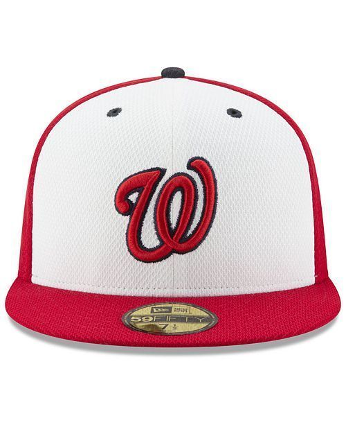 new style 30a8f 46b23 New Era Washington Nationals 59Fifty White Red Diamond Era Fitted Hat Size  7 1 4  NewEra  WashingtonNationals