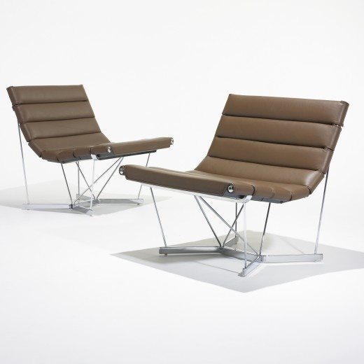 Catenary Chairs Model Designed By Ronald Beckman, Rodney Hatanaka, Herman  Miller, 1962