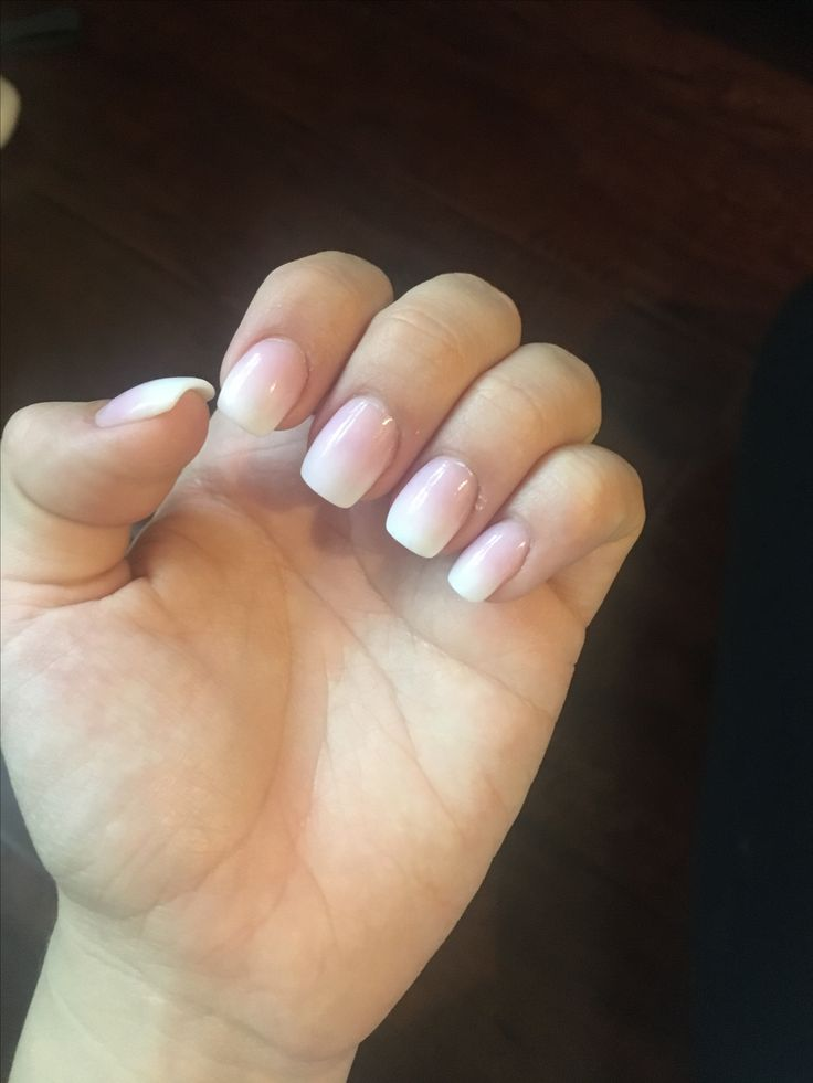 Nails done in Dublin CA Ninety-One nails. Ombré acrylic overlay on my actual nail