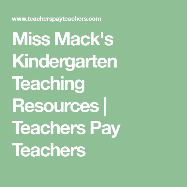Miss Mack's Kindergarten Teaching Resources   Teachers Pay Teachers