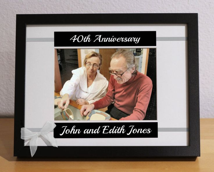 40th Anniversary Gift, 40th Wedding Anniversary, 40th Anniversary Gift for Parents, Custom Picture Frame, Personalized, Anniversary Party by KimKimDesigns on Etsy https://www.etsy.com/listing/251030979/40th-anniversary-gift-40th-wedding