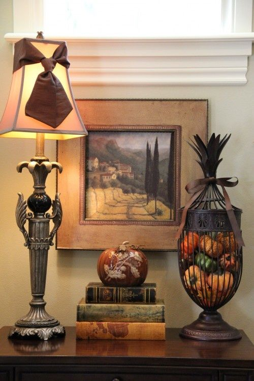 Entry table decor entry hall table decor tuscan style for the home just for balance tuscan Pinterest home decor hall