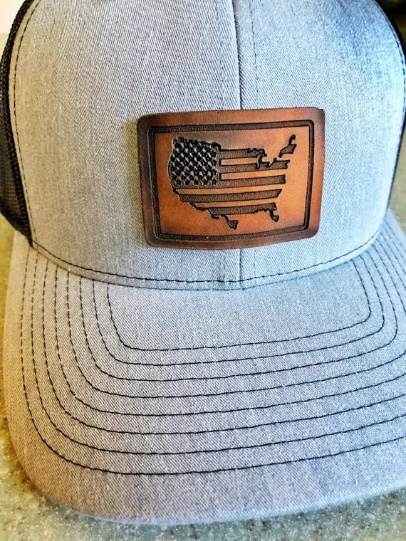 Usa Hat Us Flag Hat Richardson 112 Snapback Leather Patch Trucker Hat United States Hat Us Pride Leather Patches Laser Engraved Leather Hats For Men