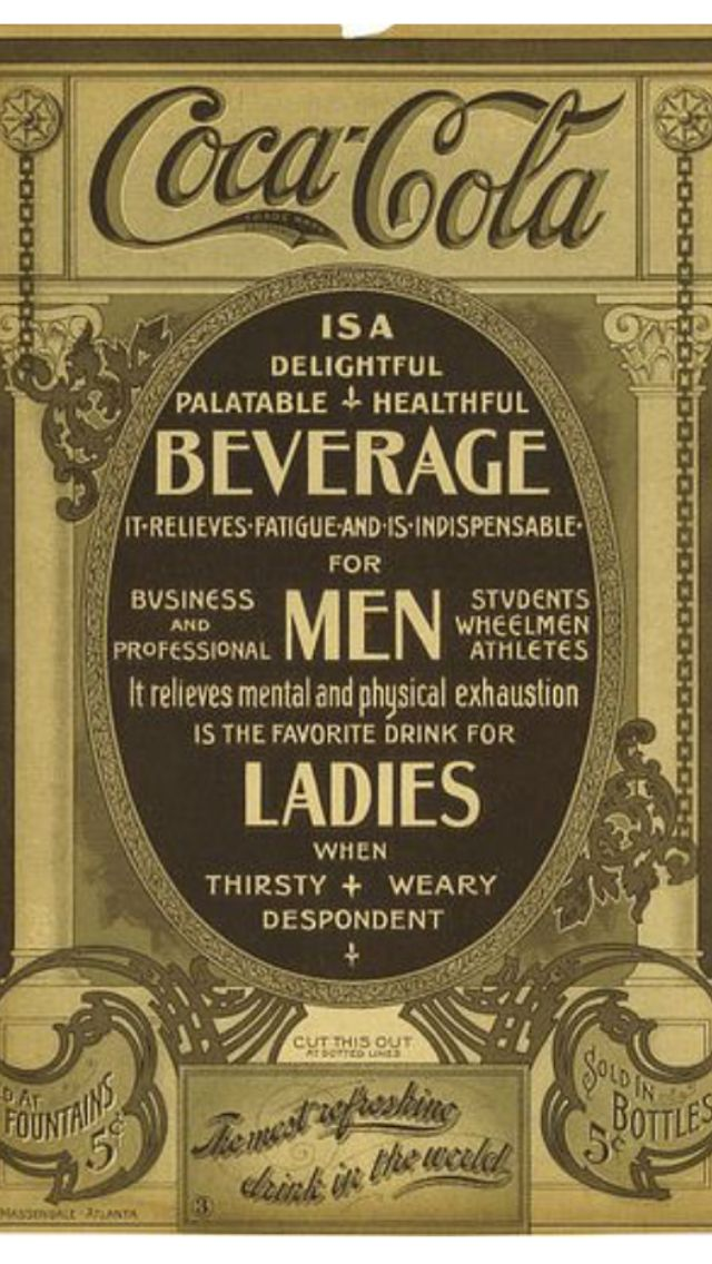 1910 poster = Coca Cola promised this was a 'healthful' drink !! ( When original recipe was permitted = originally contained ACTUAL COKE DRUG = to get users addicted to their beverage !! ) By 1910 a new recipe that tasted the same but minus the 'COKE ' was promoted as now healthy ( like some isotonic sports drinks do now !! ) Then again Cigarette companies during this period in advertising history , promised the health benefits of cigarettes / smoke your way to health !! Great years for ad…
