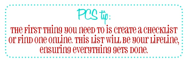 Cupcakes & Combat Boots: PCSing: Creating a to-do list