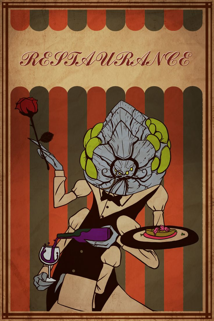 starcraft2 _  waiter abathur retro poster