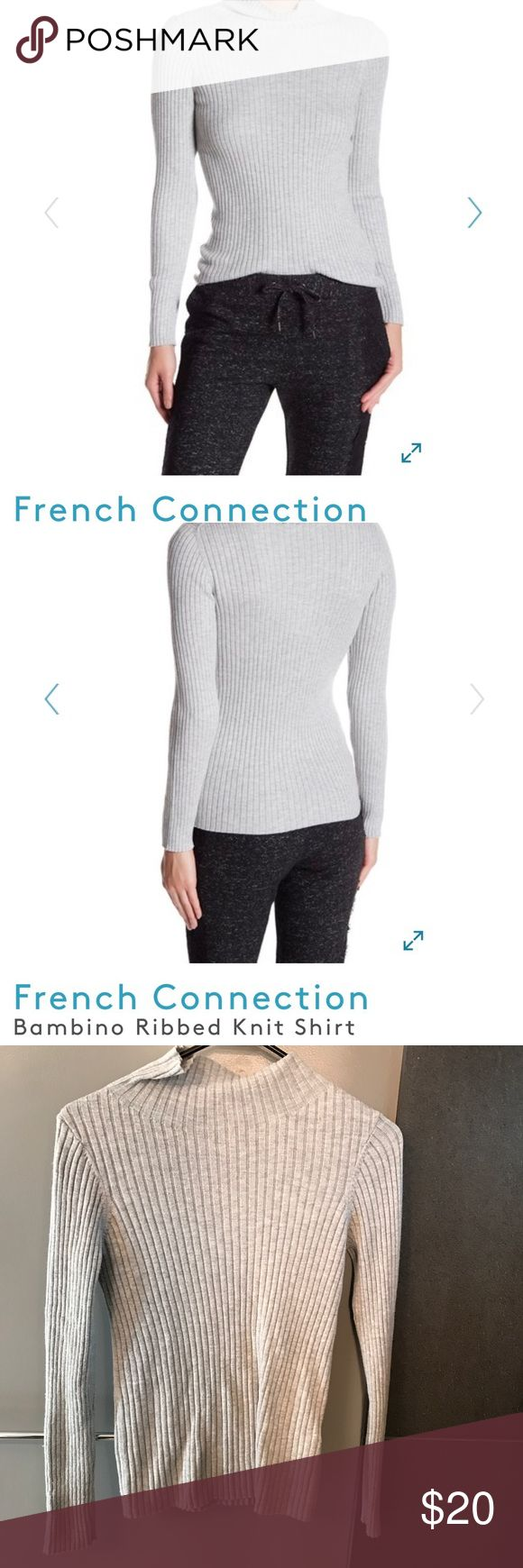 french connection ribbed turtle neck shirt xs Luxurious rubbed sweater.  Dress it up for the office or a night on the town with a pair of faux leather leggings.  XSmall. French Connection Sweaters Cowl & Turtlenecks