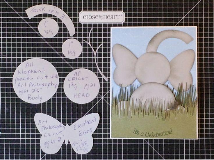Art Philosophy CRICUT cartridge Elephant