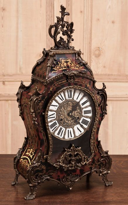 Antique French Louis XIV Tortoiseshell Clock | Antique Clocks | Inessa Stewart's Antiques