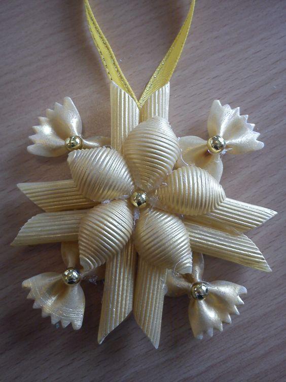 Haz angelitos y muchos adornos navideños con fideos