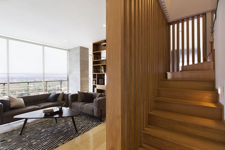 Penthouse HT | Dionne Arquitectos | #stairs #penthouse #wood #lattice #livingroom #indoor #design #interior