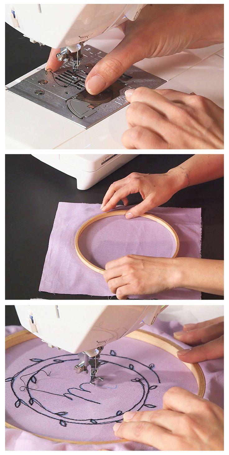 Freihandsticken mit der Nähmaschine - kostenlose Video-Einführung via Blog.makerist.de                                                                                                                                                                                 Mehr